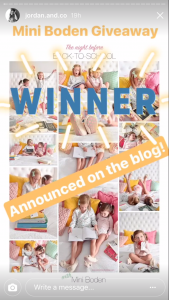 Instagram Stories - competition