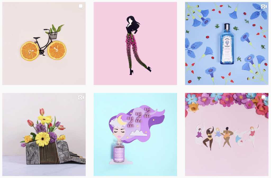 creative instagram accounts - @georgiestclair