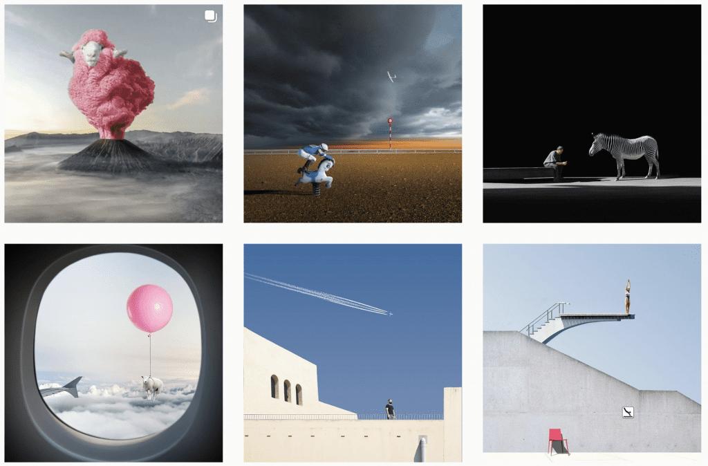 creative instagram accounts - @p22_art