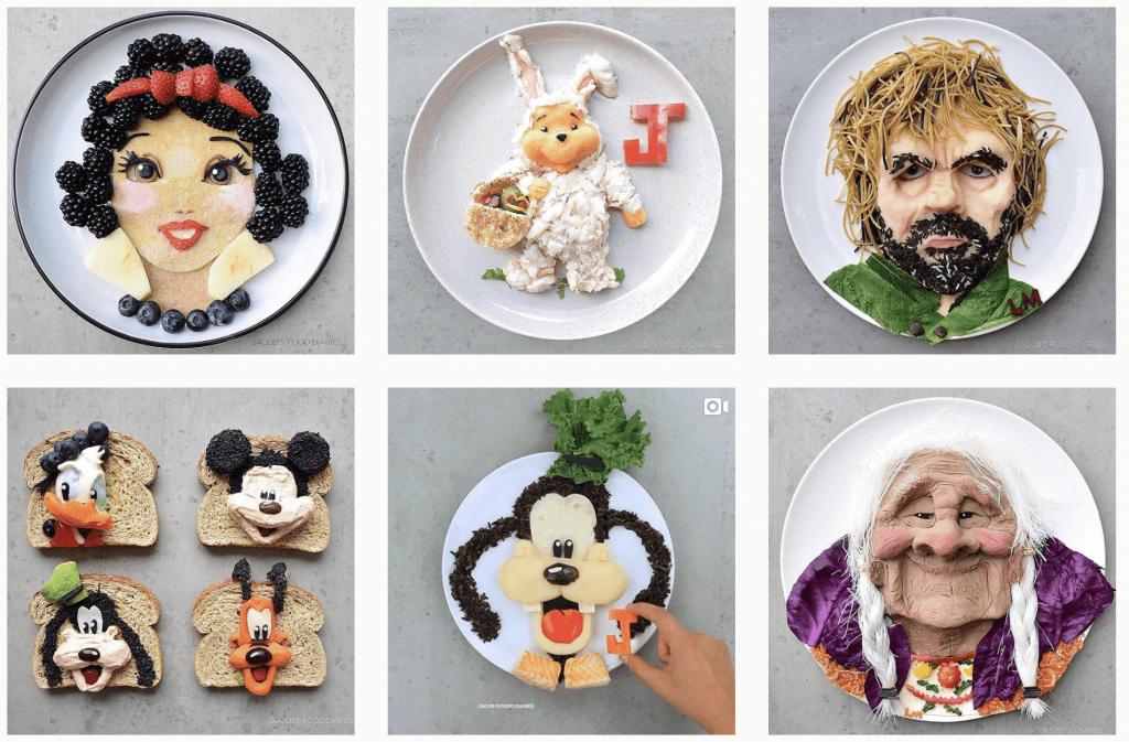 creative instagram feeds - @jacobs_food_diaries