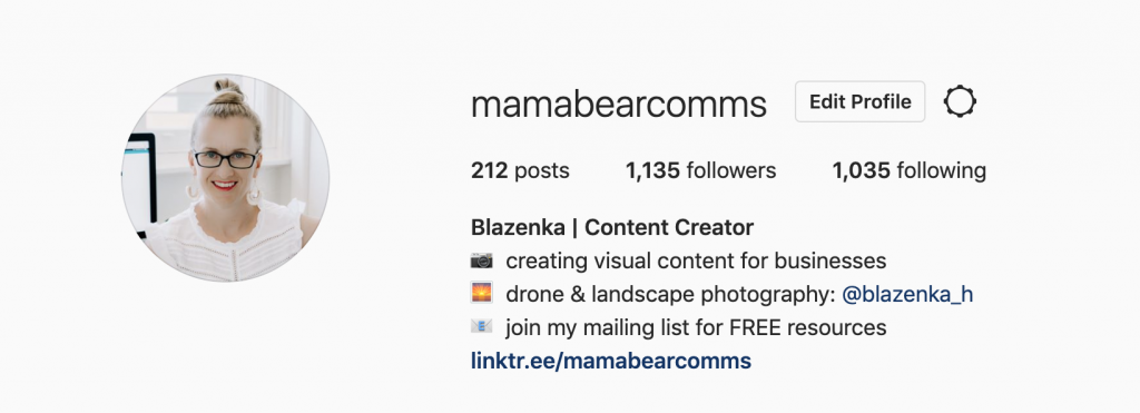 mama bear communications instagram profile