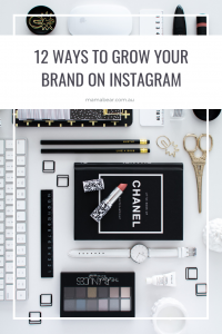 12 ways to grow your brand on Instagram - pin