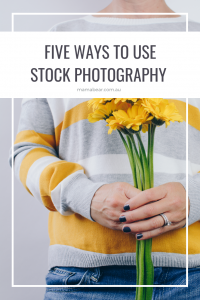 Five ways to use stock photography - pin