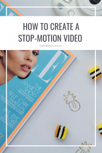 How to create a stop-motion video - pinterest