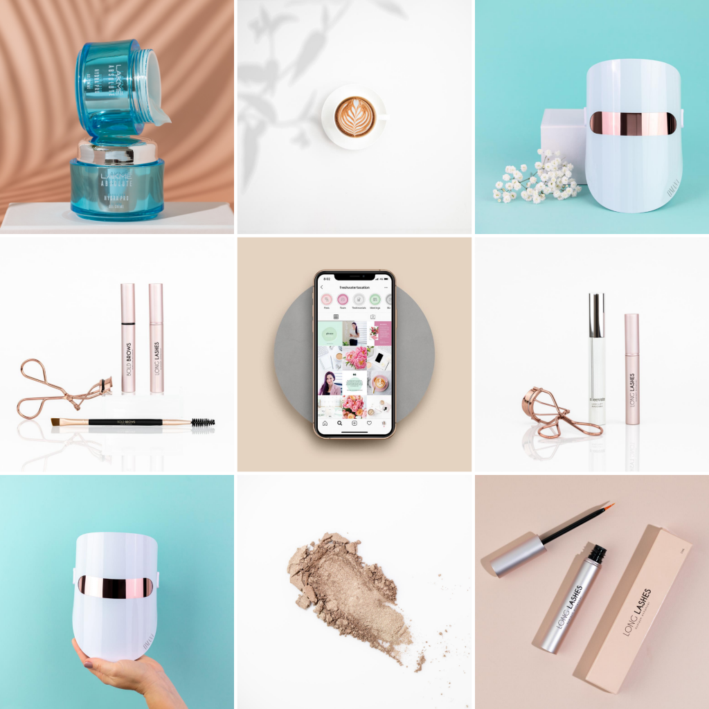 8 Instagram grid layout ideas - colour coordinated