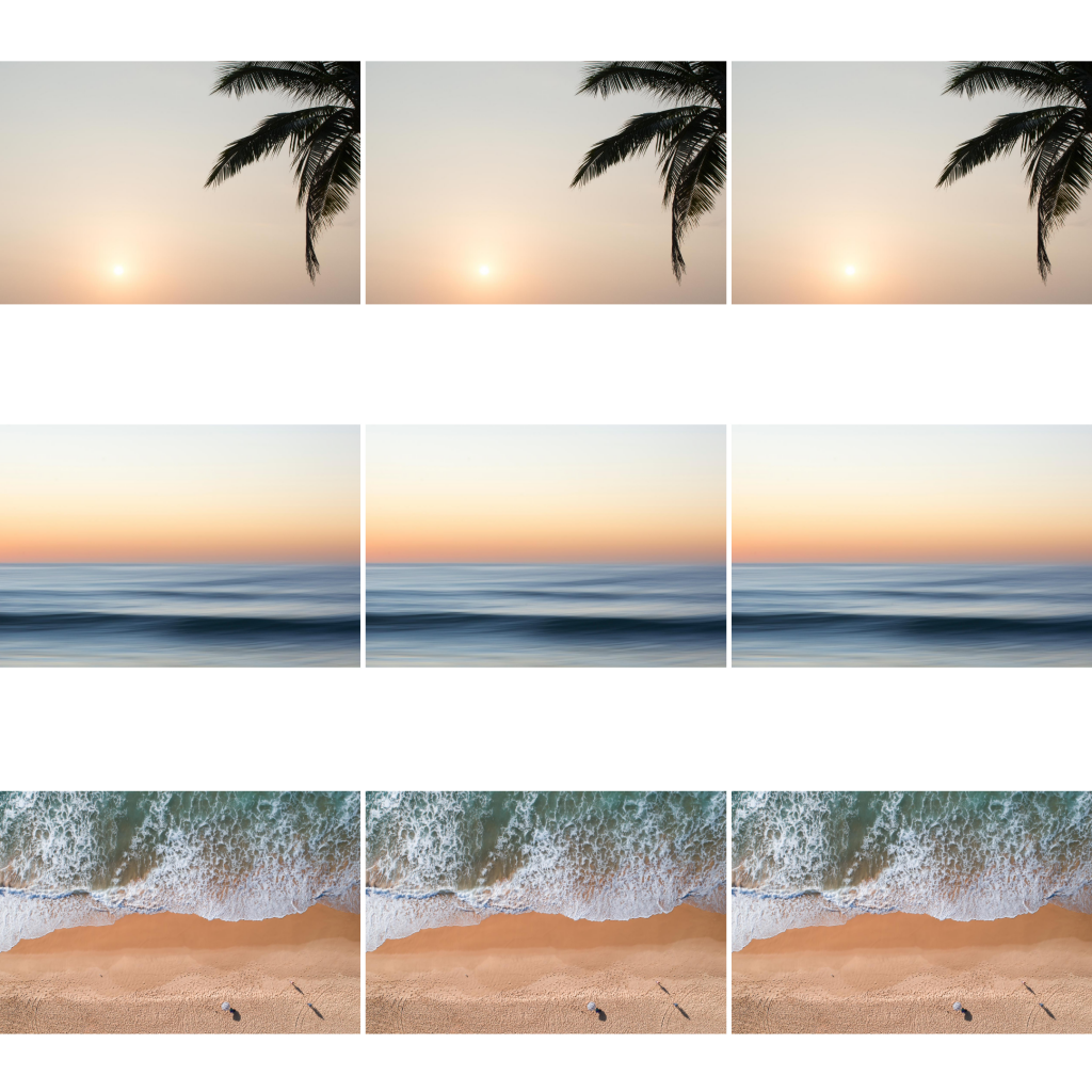 8 Instagram grid layout ideas - landscape grid