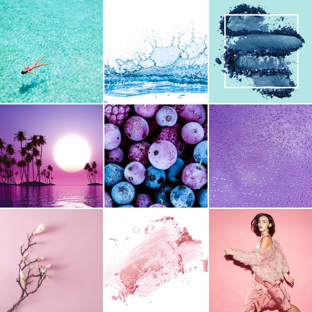 8 Instagram grid layout ideas - rainbow theme