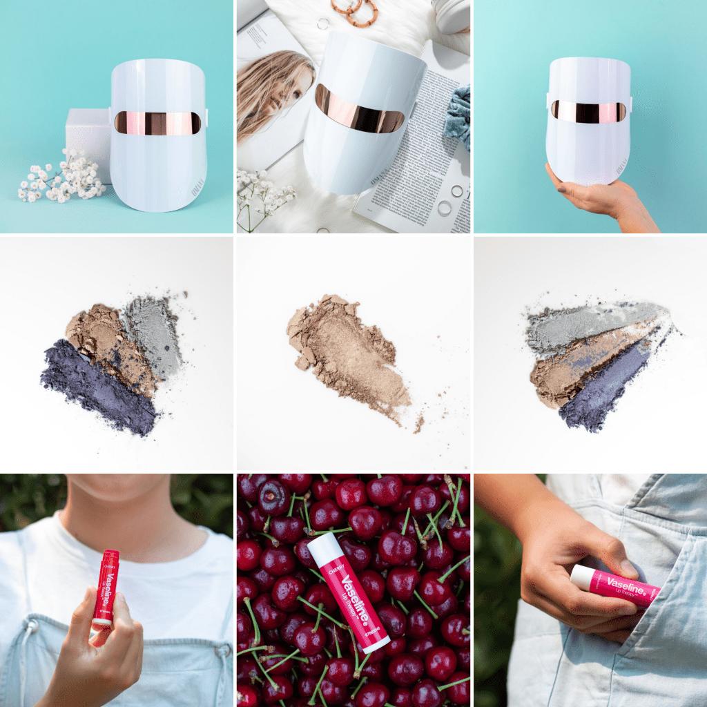 8 Instagram grid layout ideas - three in a row